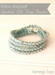 Anthro-Knockoff-Sparkled-Silk-Wrap-Bracelet
