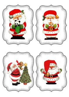 "Photo from album ""Новогодние ярлычки"" on Yandex. Christmas Clipart, Christmas Gift Tags, Christmas Printables, Christmas Pictures, Xmas Cards, All Things Christmas, Vintage Christmas, Christmas Crafts, Christmas Ornaments"