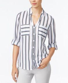 Kit 3 Camisas Social Estampada Manga Curta Slim Fi Tricoline