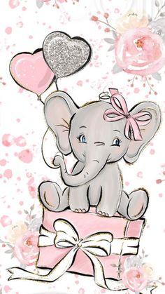 September 2 – Aimee Stoffel Garske – – Happy Painting by Clarissa Hagenmeyer – wallpaper Baby Elephant Drawing, Elephant Drawings, Baby Animal Drawings, Elephant Illustration, Elephant Nursery Art, Birthday Cards, Happy Birthday, Diy Birthday, Birthday Greetings
