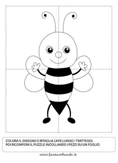 Bee Activities, Toddler Learning Activities, Preschool Puzzles, Preschool Worksheets, Penguin Coloring, Arabic Alphabet For Kids, Animal Puzzle, Bee Theme, Classroom Themes
