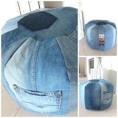 Sitzsack aus Jeans - cool
