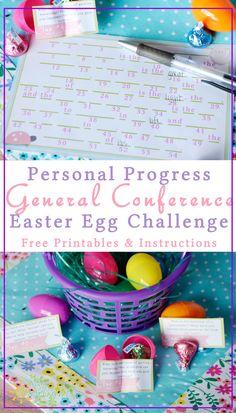Personal Progress General Conference Easter Egg Challenge