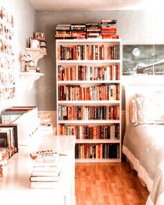 Study Room Decor, Cute Room Decor, Room Ideas Bedroom, Bedroom Decor, Library Bedroom, Cozy Bedroom, Bookshelves In Bedroom, Apartment Bookshelves, Decorating Bookshelves