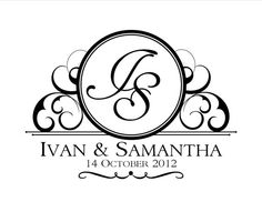 Custom Wedding Logo Design por InvitationsbyEmily en Etsy