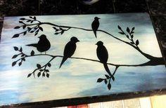 #Birds #Sky #Painting
