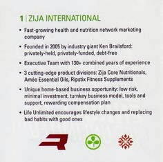 Benefits to joining Zija. Start living Life Unlimited today!