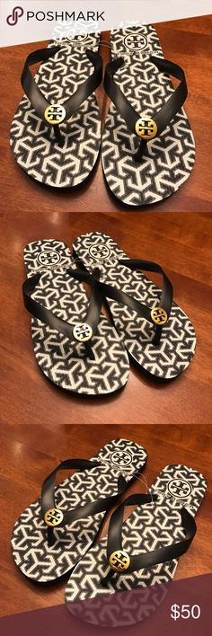 NWOT TORY BURCH FLIP FLOPS NWOT TORY BURCH FLIP FLOPS! Black. Never worn. Size 7 true to size! Tory Burch Shoes Sandals