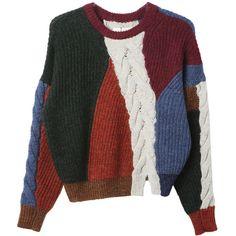 Isabel Marant Gao Art Sweater ($530) ❤ liked on Polyvore featuring tops, sweaters, isabel marant sweater, isabel marant and isabel marant top