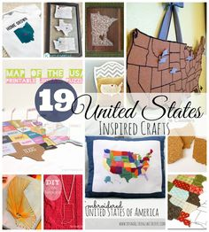 19 United States inspired crafts via Do Small Things With Love
