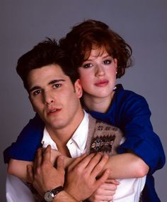 Molly Ringwald & Michael Schoeffling publicity photo for Sixteen Candles (1984)