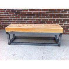 Square tube beam bench/coffee table by Shawn Chapin.