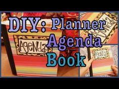 DIY: Agenda Book! - composition book and scrapbook paper