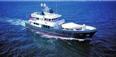 Seaton Expedition Voyager Designs - Seaton Yachts Sales and Brokerage Trawler Boats, Expedition Yachts, Fishing Boats, Boating, Ali, Nautical, Ships, Design, Travel