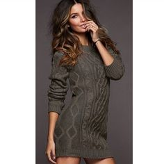 I love sweater dresses!! My fave in the winter with leggings and boots. @Felicia M do you know how to make them lol?
