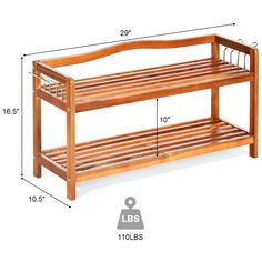 This shoe rack is a great addition for nearly any home as a simple home storage furniture. storage rack particularly for shoes and boots, but it also can used as storage shelf or plants rack. Sock Storage, Shoe Storage Organiser, Organizer, Storage Organization, Closet Storage, 8 Pair Shoe Rack, Wood Shoe Rack, Display Shelves, Storage Shelves