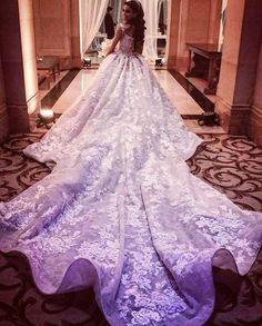 That train  ! Wedding dress designed by Krikor jabotian @krikorjabotian.  #lebaneseweddings #aliandzouhour @zouhourjichi