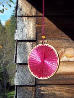 Autumn Wedding Decoration - Burgundy Handmade Light Catcher - Yellow Glass Bead