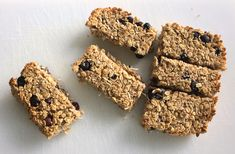 These bars are great as a prepare-ahead breakfast option to have on hand for busy mornings or when you're on-the-go, or you could have a half serve as a morning or afternoon snack. Breakfast Options, Breakfast Bars, Quick Recipes, Whole Food Recipes, Milk Alternatives, Small Bars, Afternoon Snacks, Berries, Coconut