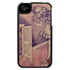 Alice in Wonderland Through the door iPhone 4 Case
