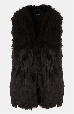 over my biker jacket for extra snug @Topshop Faux Fur Vest #Nordstrom #britishstyle