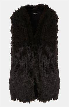 @Topshop Faux Fur Vest #Nordstrom #britishstyle