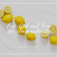 """Fear God and keep His commandments."" Ecclesiastes 12:13 http://lovegodgreatly.com/the-conclusion/ #LoveGodGreatly #Ecclesiastics"