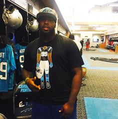 Carolina Panthers Kawann Short in his RokABody shirt www.eclipzingdezignz.com