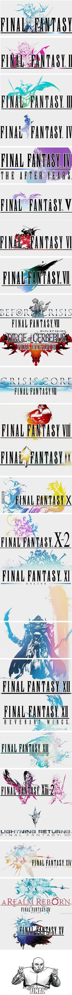 "I am waiting to say ""Finally final final-fantasy"""