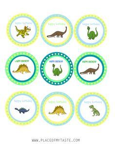 jpg - File Shared from Box Dinasour Birthday, Dinosaur Birthday Party, 3rd Birthday Parties, 2nd Birthday, Happy Birthday, Birthday Ideas, Dinosaur Cupcakes, Boy Printable, Baby Shower