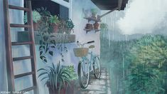 Animated gif about gif in Art/illustration/Animation. Aesthetic Gif, Aesthetic Wallpapers, Aesthetic Japan, Pretty Art, Cute Art, The Garden Of Words, Film D'animation, Anime Scenery Wallpaper, Graphic