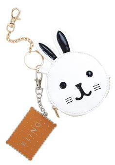Must Be the Bunny Coin Purse. What puts a smile on your face every time you find some spare change? #white #modcloth