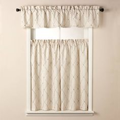 product image for Wellington Window Curtain Tier Pair in Cream