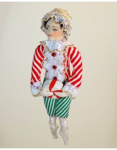 Candy Cane Dance - The Nutcracker Ballet Suite - Gladys Boalt - Christmas Ornaments - Collection or Gift
