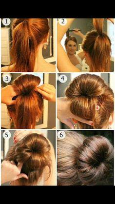 Donut bun hair tutorial