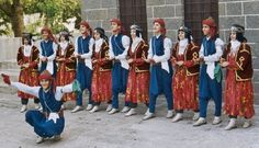 Traditional costumes from Diyarbakır.  Model: ca. 1950 (men), and still in use for the women.  Ethnic Group: Kurdish.    These are recent atelier-made copies, as worn by folk dance groups.