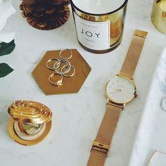 KLARF   WHITE & GOLD mesh bracelet stainless steel watch #klarf #klarfwatches #watches #minimal #accessories #design #style #chic #watch