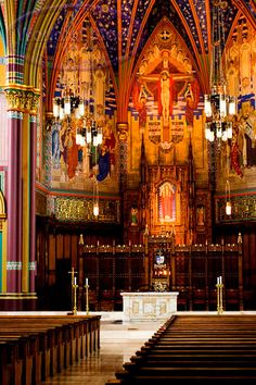Catholic Cathedrals in the World | ... Alter Inside The Cathedral Of The Madeleine In Salt Lake City, Utah