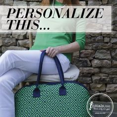 Show us your creativity! If this Navy Key Overnighter was yours what FREE personalization would you add to the bag to make it unique? Share your ideas and you might see it in future Stylebooks!