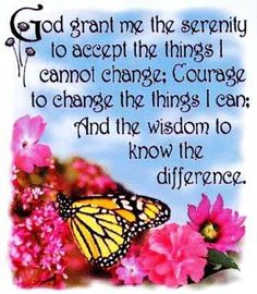Serenity Prayer ~ Favorite words