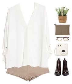 """""""Untitled #177"""" by neptune-estate ❤ liked on Polyvore featuring Fujifilm, Maison About, Sam Edelman, MANGO and Garrett Leight"""