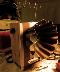 """Seriously cool!  This one is called """"The Ed Wood"""" Cigar Box Amp Mods - Cigar Box Nation"""