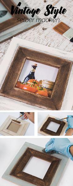 Alten Holztisch aufarbeiten  schöne Aussichten mit Posterlounge
