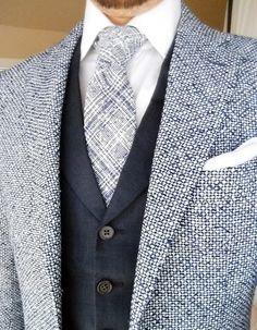 http://chicerman.com  gentlemenscholarsclub:  Splendiferous summer tie and linen waistcoat  Havana jacket from @suitsupply.  #menshoes