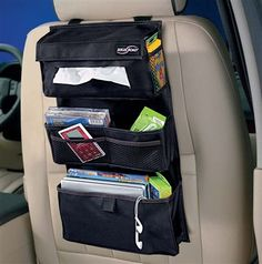 A High Road classic, our Back Seat Entertainment Organizer has 8 storage pockets for toys, tablets and games, and a holder for tissue boxes to keep little noses clean and dry on long drives. Come see our full selection of seat back organizers at www.highroadorganizers.com