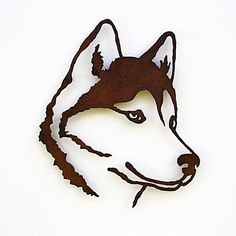Siberian Husky wall art  195 tall Husky  by FunctionalSculpture, $45.00                                                                                                                                                                                 Más