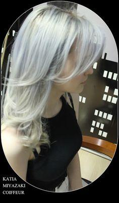 Katia Miyazaki Coiffeur - Salão de Beleza em Floripa: loira platinada - silver-  cabelo cinza - loiro ac...
