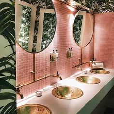 "4,490 Likes, 35 Comments - ⠀⠀⠀          RANDI MAGELI (@randi_mageli) on Instagram: ""{ a pink n delicious bathroom} . pic via pinterest"""
