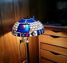 Stained glass R2 lampshade