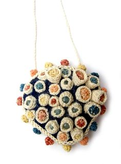 Joanne Haywood - Miniature Garden, 2010 - naturally-dyed cotton yarn, aquamarines, felt